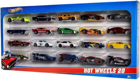 Pack 20 vehiculos Hot Wheels H7045