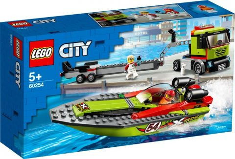 Transporte lancha de carreras lego city 60254