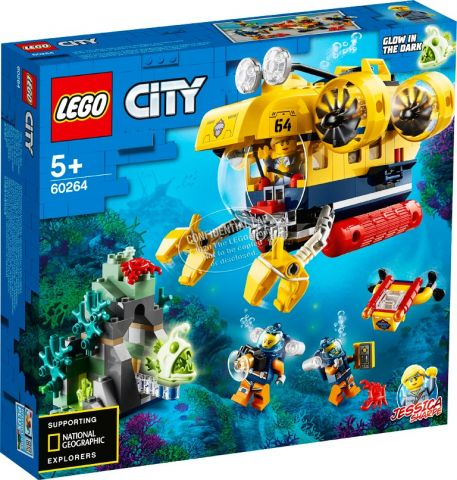 Oceano submarino exploracion lego city 60264